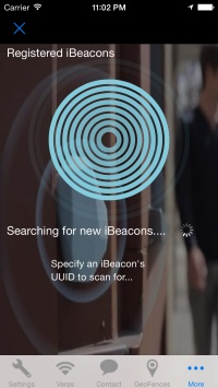 iBeacon screenshot